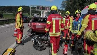 Bad Aiblingirschenberga8 Motorradunfall In Richtung