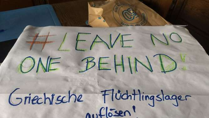 Demonstration #LeaveNoOneBehind auch in Rosenheim