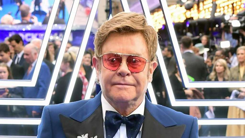 "Sir Elton John bei der Premiere von ""Rocketman"" 2019 in London. Foto: Ian West/PA Wire/dpa"