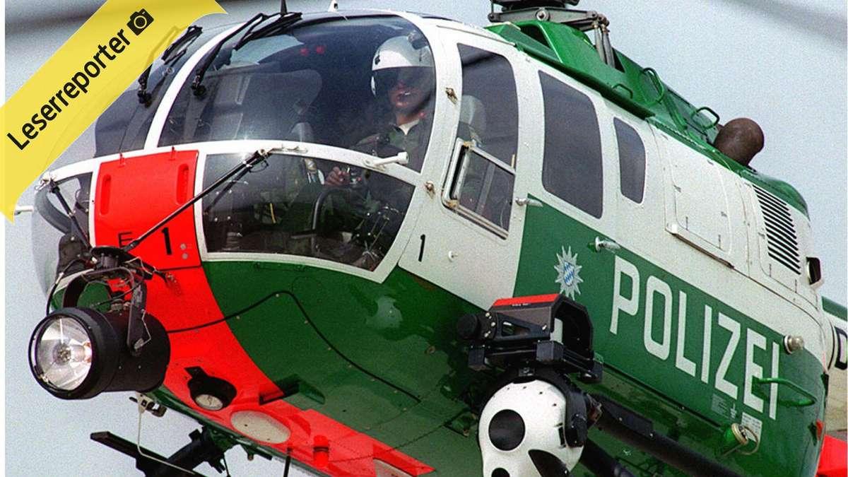 Hubschrauber Kreist über Köln