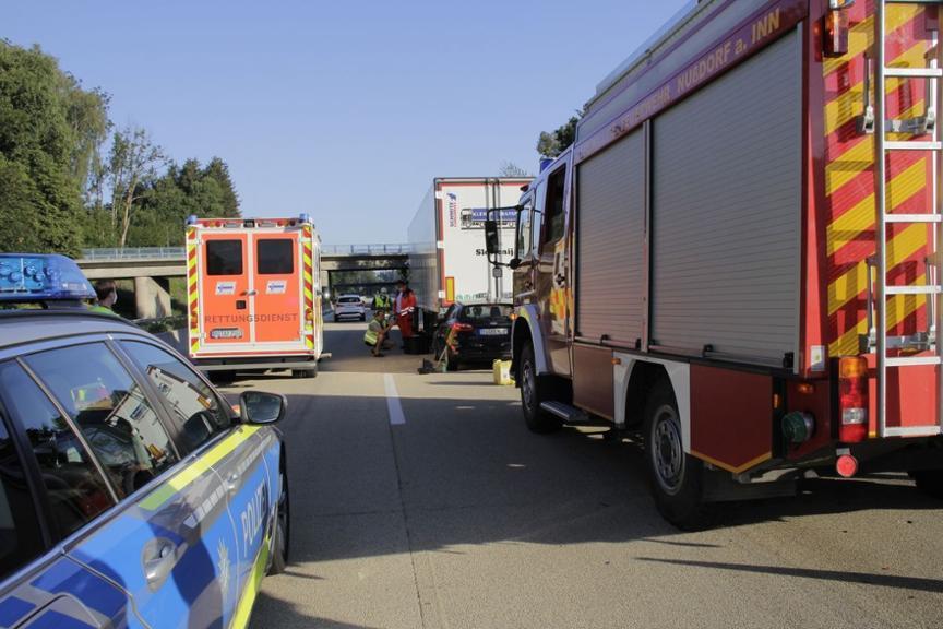 Unfall A93 Bilder