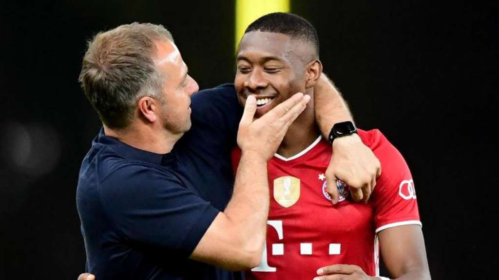 Trainer Flick und David Alaba