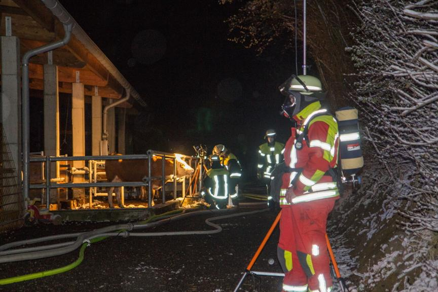 Brand bei Surheim am 8. April